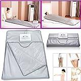 Sauna Hot Blanket FIR Infrared Fat Detox Body Slimming Weight Loss Machine AU Plug