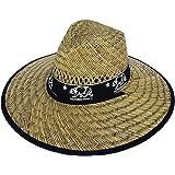 Men's Straw California Republic Patch, Cali, Los Angeles, Wide Brim Straw Sun Hat Adjustable Sun Light Protection Hat