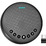 eMeet Luna スピーカーフォン 会議用マイクスピーカー Bluetooth対応 Skype Zoom など対応 ノイズキャンセリング  VoiceIA技術 オンライン会議 テレワーク 在宅 会議用システム ウェブ会議 テレビ会議 ビデオ会議
