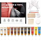 Leather Repair Kit for Couches, Vinyl Repair Kit for Furniture, Car Seats, Sofa, Jacket, Purse, Belt, Shoes, Boat - Scratch F