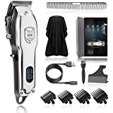 Hair Clippers for Men -Hair Trimmer for Men Clippers for Hair Cutting Professional Hair Cutting Kit Rechargeable LED Display