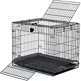 Midwest Folding Metal Rabbit Cage | Includes 1/2 inch hygienic Floor Grid & Top/Front Door Access