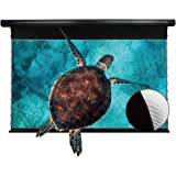 VIVIDSTORM Movie Wrinkle-Free Cinema Office/Home 8K/3D/UHD Motorized Drop Down Projector Screen 100Inch, Home Theater Black h