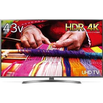 LG 43V型 4K 液晶テレビ 直下型LED IPSパネル 2倍速相当 外付けHDD録画対応(裏番組録画) Wi-Fi対応 1ウェイ2スピーカー 20W 43UK6500EJD
