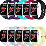 Laffav Compatible with Apple Watch Band 40mm 38mm 44mm 42mm for Women/Men, Soft Sport Bands Replacement Strap Accessory for i