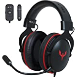 Blade Hawks RGB Gaming Headset, USB Headset PS4 with 2 in 1 PC Adapter, Headset Wired with 3D Surround Sound, Air Permeable E
