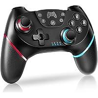 Switch コントローラー 【2021最新版】 無線Bluetooth接続 スイッチコントローラー HD振動 6軸ジャ…