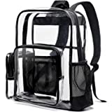 Cambond Clear Backpack Heavy Duty Transparent Backpacks for Adults with Reinforced Straps See-Through Bag for School Work