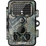 Neewer Trail Game Camera 16MP 1080P HD Digital Waterproof Hunting Scouting Cam 120° Wide Angle Lens with 0.3s Trigger Speed M