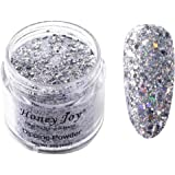 28g/Box Silver Gray Shine Glitter Hexagon Sequins Paillette Dip Powder Nails Dipping Nails Long-lasting Nails No UV Light Nee