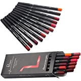 12Pcs Lot Set 12 Colors Lip Liner Pencil Waterproof Non-marking Matt Velvet Lipstick Pen