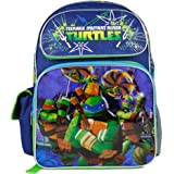 "TMNT Teenage Mutant Ninja Turtles Boys 16"" Large School Backpack Bag"
