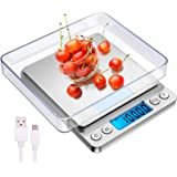 TERSELY Digital Kitchen Scales,USB Charging, 500g/0.01g Mini Food Scale, Kitchen Scale,Electric Cooking Scales, Digital Scale