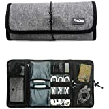 ProCase Accessories Bag Organizer, Universal Electronics Travel Gadgets Carrying Case Pouch for Charger USB Cables SD Memory