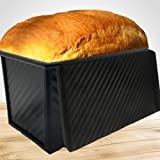 Pullman Loaf Pan with Lid, Bread Pans for Baking Toast Mold or Sandwich Loaf, Bread Pan with FREE Recipe Ebook, Banana Bread