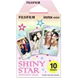 Fujifilm 16404193 Instax Mini Shiny Star 10pk Film Suitable for Instax Mini Cameras Including 7S,25, 50S, 8, 70 & 90, Also Sh