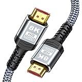 HDMI 2.1 ケーブル 2M 8K HDMI Snowkids 8K 60Hz 4K 120Hz 144Hz 48Gbps 超高速 HDMI2.1 UHD HDR HDCP2.2 eARC 3D イーサネット8K対応 PS5 Fire TVなど適