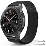 EEEKit Stainless Steel Replacement WatchBand for Samsung Gear S3 Frontier/Classic, Adjustable Loop Strap for Gear S3 R380...