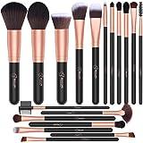 BESTOPE 18 Pcs Makeup Brushes Premium Synthetic Fan Foundation Powder Kabuki Brushes Concealers Eye Shadows Make Up Brushes K