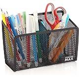 StorageMax Magnetic Pencil Holder and Locker Organizer, Wire Mesh Storage Basket for Refrigerator, Whiteboard or Office Cabin