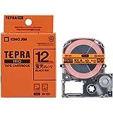 キングジム テープカートリッジ テプラPRO  オレンジ 12mm SK12D