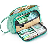 EASTHILL Pencil Case Big Capacity Pen Pouch Storage Bag Student Teens Girls Adults for School Office Organizer - Green