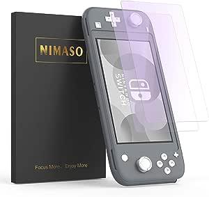 【ブルーライトカット】【2枚セット】Nimaso Nintendo Switch Lite 用 強化ガラス液晶保護フィルム 眼精疲労軽減/硬度9H/貼り付け簡単/気泡ゼロ