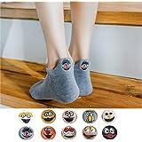 Pluviophile 刺繍靴下シリーズ-10色10足セット 短い靴下 スポーツソックス くるぶしソックス 男女兼用