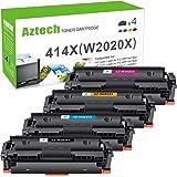 Aztech Compatible Toner Cartridge Replacement for HP 414X 414A W2020X W2020A for HP Color Laserjet Pro MFP M479fdw M454dn M47
