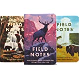 Field Notes: National Parks Series C - Rocky Mountain, Great Smoky Mountains, Yellowstone - 3 Pack - Graph Memo Book, 3.5 x 5