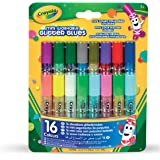 CRAYOLA 69-4200 Mini Washable Glitter Glue; Art Tools; 16 ct.; 16 Sparkly Colors; Great for Arts and Crafts, Great for sparkl