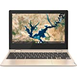 "Lenovo IdeaPad Flex 3 Chromebook, Intel Celeron N4020, 4GB RAM, 64GB eMMC, 11.6"" HD Touch Screen, Chrome OS, Almond, 82BB000L"