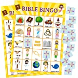 Bible Bingo Game for Vacation Bible School 24 Players for Kids Christian Sunday Church