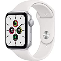 Newest Apple Watch SE (GPS Model) - 44mm Silver Aluminum Case and White Sport Band