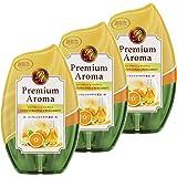 【まとめ買い】お部屋の消臭力 Premium Aroma プレミアムアロマ 部屋用 スイートオレンジ&ベルガモットの香り 400ml×3個 玄関 リビング 寝室 ルームフレグランス 消臭 芳香剤