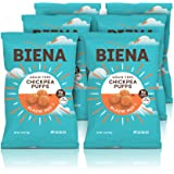 Baked Chickpea Puffs, Blazin' Hot, 3.2oz, Protein Snacks, Low Carb, Crunchy, Gluten Free, 6 Count