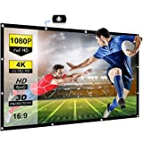 Chalpr Projector Screen 120 inch 16:9 HD Anti-Crease Portable Projection Screen, Foldable Indoor Outdoor Projector Movies Scr