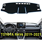 ABESTcar Dash Cover for Toyota RAV4 2019 2020 Dashboard Cover Mat Accessories Custom Fit Center Console Cover Sunshield Prote