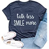 Xiaomomo Womens Hamilton T Shirts Casual Talk Less Smile More Shirts Rise Up Graphic Tees