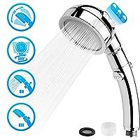 シャワーヘッド 増圧 節水 3段階モード調節 ワンボタン止水 極細水流 軽量 肌に優しい 水漏れ防止 不純物除去 取り付…