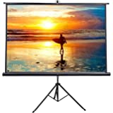 """VIVO 100"""" Portable Indoor Outdoor Projector Screen, 100 Inch Diagonal Projection Hd 4:3 Projection Pull Up Foldable Stand Tri"""