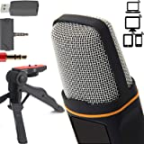 ZaxSound Professional Cardioid Condenser Microphone for PC, Laptop, iPhone, iPad, Android Phones, Tablets, Xbox and YouTube R