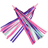 Platt Kid's Bicycle Handlebar Streamers Colorful Ribbons Tassel for Girls Boys Bicycle Handlebar Scooter Handgrip (1Pair)