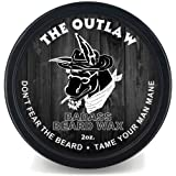 Badass Beard Care Beard Wax For Men - Softens Beard Hair, Leaves Your Beard Looking And Feeling More Dense 2 oz The Outlaw Sc
