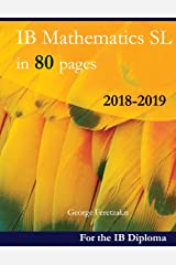 IB Mathematics SL in 80 pages: 2018-2019 ペーパーバック