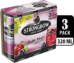 Strongbow Apple Cider Dark Fruit Can, 3 x 320ml