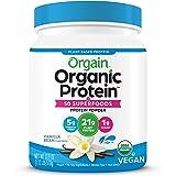 Orgain Organic Protein + Superfoods Powder, Vanilla Bean - Vegan, Plant Based, 5g of Fiber, No Dairy, Gluten, Soy or Added Su