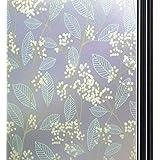 Qualsen 窓 めかくしシート窓ガラス 目隠しシート窓用フィルム 窓ガラスフィルム (90 x 200 cm, 白果樹)
