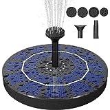 Findyouled Solar Fountain Pump for Bird Bath, 2.5W Solar Water Fountain Outdoor for Garden, Pool, Pond
