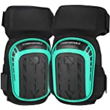 Gel Knee Pads for Work Construction, Gardening, Cleaning, Flooring and Garage - Heavy Duty Support Kneepads for Men with High